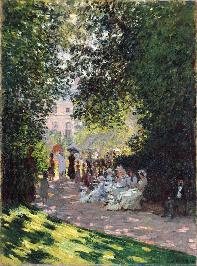 Fig. 2. Claude Monet, The Parc Monceau, 1878, oil on canvas, 72.7 x 54.3 cm, The Metropolitan Museum of Art, New York. The Mr. and Mrs. Henry Ittleson Jr. Purchase Fund, 1959. Image credit: The Metropolitan Museum of Art, Open Access Scholarly Content, www.metmuseum.org.