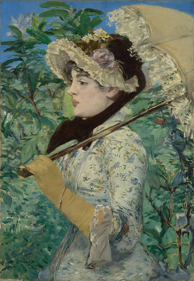 Fig. 3. Edouard Manet, Le Printemps (Jeanne Demarsy), 1881, oil on canvas, 74 x 51.5 cm, The J. Paul Getty Museum, Los Angeles. Image credit: The Getty Open Content Programme.