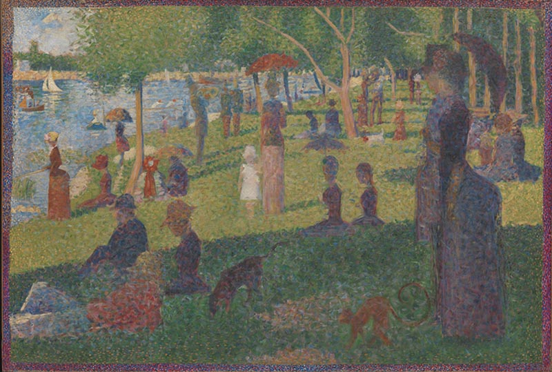 Fig.  5. Georges Seurat, Study for 'A Sunday on La Grande Jatte,' 1884, oil on canvas, 70.5 x 104.1 cm, The Metropolitan Museum of Art, New York. Bequest of Sam A. Lewisohn, 1951. Image credit: The Metropolitan Museum of Art, Open Access Scholarly Content, www.metmuseum.org.
