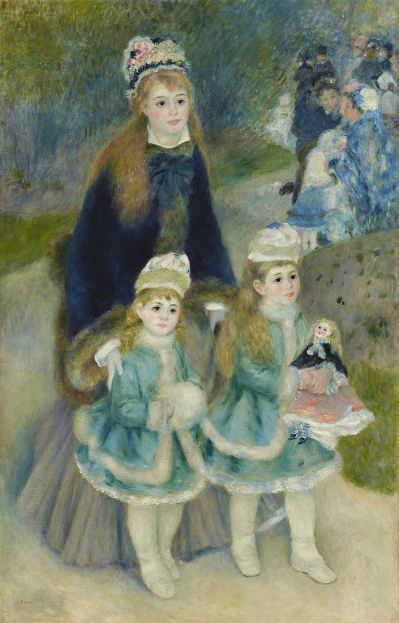 Fig. 6. Pierre-Auguste Renoir, La Promenade, 1875-76, oil on canvas (lined), 170.2 x 108.3 cm, The Frick Collection, New York. Henry Clay Frick Bequest. Image Copyright The Frick Collection.