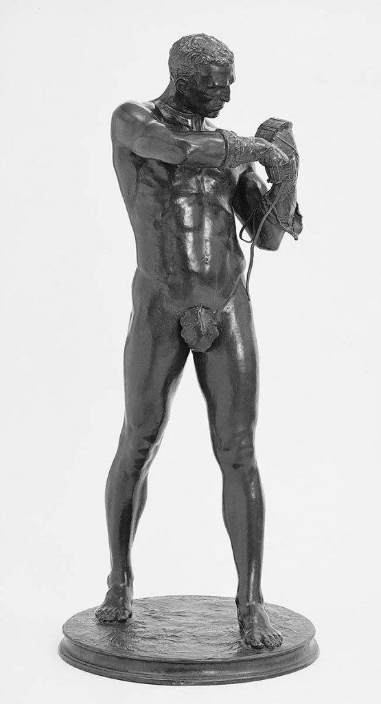 Charles Henry Niehaus, Caestus, 1883-85, cast 1910. Bronze, 89.5 x 38.1 x 38.1 cm, The Metropolitan Museum of Art, New York. Rogers Fund, 1907. Image credit: Open Access Scholarly Content, www.metmuseum.org.