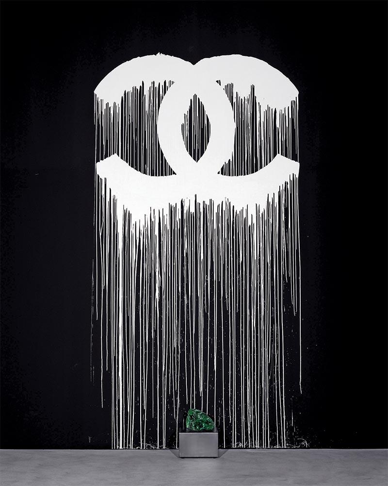 Fig.1  Zevs, Liquidated Logo Chanel, peinture murale, Zevsonite, Zurich 2007. ©Zevs (courtesy Depury & Luxembourg).